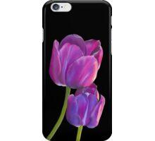 Plum Purple Tulips iPhone Case/Skin