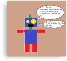 Sarcastic Robot Canvas Print