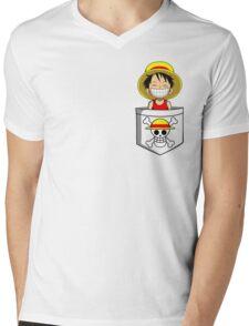 Cheeky Pirate Mens V-Neck T-Shirt