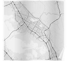 Fremont, USA Map. (Black on white) Poster