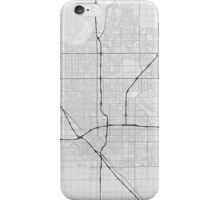 Fresno, USA Map. (Black on white) iPhone Case/Skin