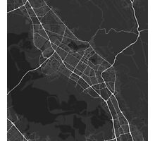 Fremont, USA Map. (White on black) Photographic Print