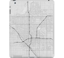 Fresno, USA Map. (Black on white) iPad Case/Skin
