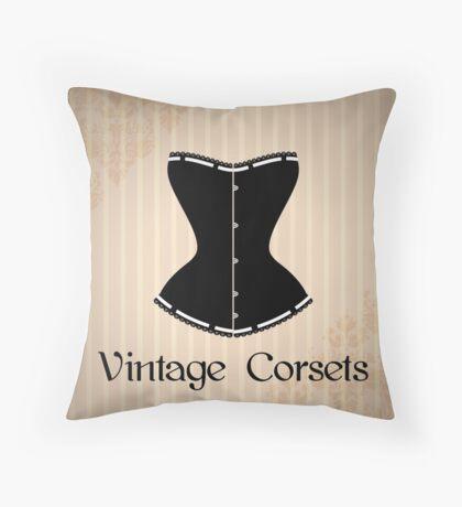 Eegant corset silhouette Throw Pillow