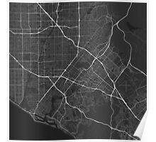 Irvine, USA Map. (White on black) Poster