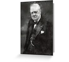 Winston Churchill Prime Minister of Great Britain Greeting Card