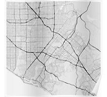 Irvine, USA Map. (Black on white) Poster