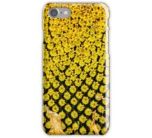Yello Sunflower macro iPhone Case/Skin
