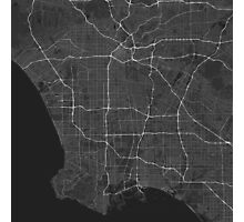 Los Angeles, USA Map. (White on black) Photographic Print