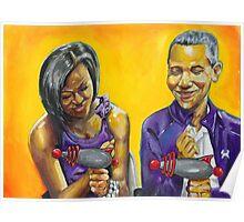 The Obamas Ray Gun Rebel Edition Poster
