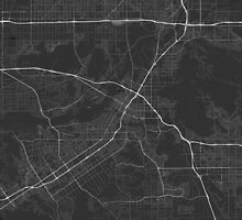 Riverside, USA Map. (White on black) by Graphical-Maps