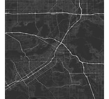 Riverside, USA Map. (White on black) Photographic Print