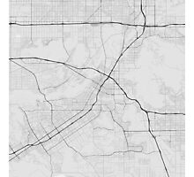 Riverside, USA Map. (Black on white) Photographic Print