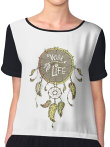 Ethnic dream catcher with feathers Chiffon Top