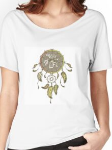 Ethnic dream catcher with feathers Women's Relaxed Fit T-Shirt