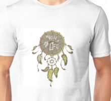 Ethnic dream catcher with feathers Unisex T-Shirt