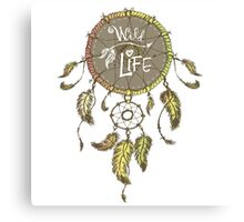Ethnic dream catcher with feathers Canvas Print