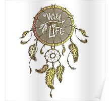 Ethnic dream catcher with feathers Poster