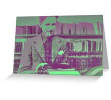 george orwell is the man  Greeting Card