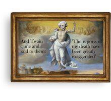 Bodily ascension of Mark Twain (see description) Canvas Print