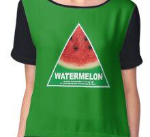 NSW Greens watermelon Chiffon Top