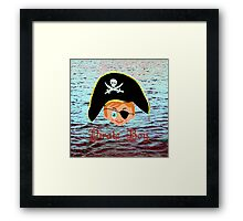 Pirate Boy - pillow & tote design Framed Print