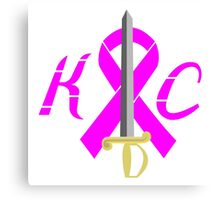 KC Breast Cancer Awareness Canvas Print