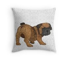 Frenchie Puppy - Chop Throw Pillow