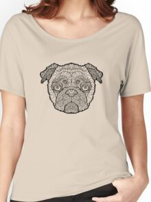 Pug - Detailed Dogs - Illustration Women's Relaxed Fit T-Shirt