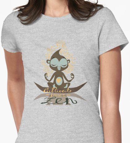 Cultivate inner Zen - Yoga Fun Design Womens Fitted T-Shirt