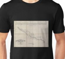 0332 Railroad Maps Preliminary sketch of the Northern Pacific Rail Road exploration and survey by I I Stevens Governor of Washington Unisex T-Shirt