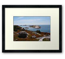 Fall on the Nova Scotia Coast Framed Print