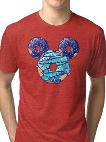 Pop Blue Donut Tri-blend T-Shirt