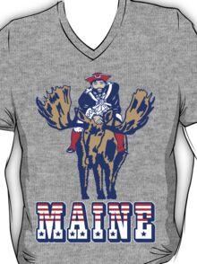 MAINE - Patriot on Mooseback - New England Patriots T-Shirt