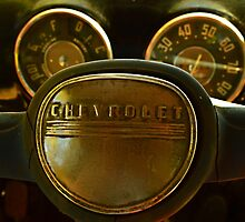 Fifty One Chevy Pickup Gauges and Horn by Dorothy  Pinder