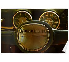 Fifty One Chevy Pickup Gauges and Horn Poster