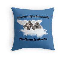 Harambe and Bantu Throw Pillow