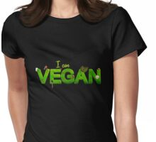 I am Vegan Womens Fitted T-Shirt