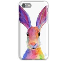 HAPPY HARE 'JELLY BEAN' BY SHIRLEY MACARTHUR iPhone Case/Skin