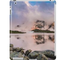 Hut in high mountain at sunset iPad Case/Skin