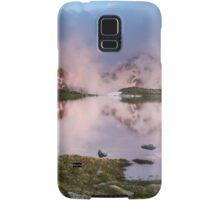 Hut in high mountain at sunset Samsung Galaxy Case/Skin