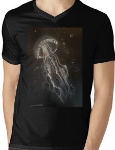 Jellyfish by Liz H Lovell Mens V-Neck T-Shirt