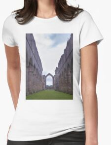 Abbey Ruins Womens Fitted T-Shirt