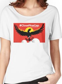 #ClosePineGap Red Women's Relaxed Fit T-Shirt