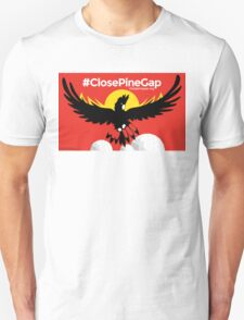 #ClosePineGap Red Unisex T-Shirt