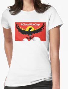 #ClosePineGap Red Womens Fitted T-Shirt