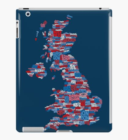 Great Britain UK City Text Map iPad Case/Skin