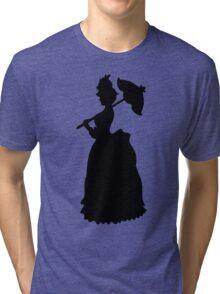 Victorian Woman - black & white gown Tri-blend T-Shirt