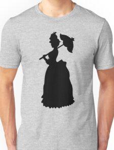Victorian Woman - black & white gown Unisex T-Shirt