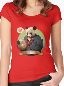 Wise Panda: Love Makes the World Go Around! Women's Fitted Scoop T-Shirt